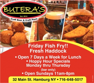 Open 7 Days a Week for Lunch