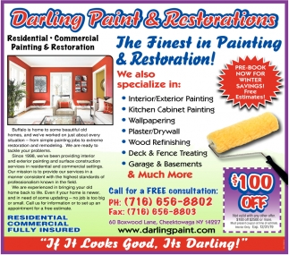 The Finest In Painting & Restoration!