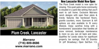 New Lancaster Model Now Open