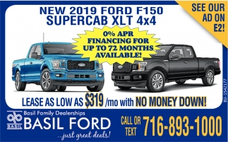 New 2019 Ford F150 Supercab XLT 4x4