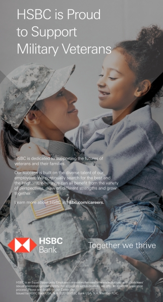 HSBC Is Proud To Support Military Veterans