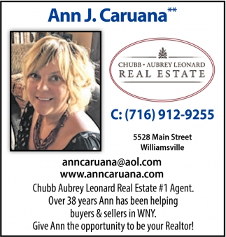 Give Ann the Opportunity to be Your Realtor!