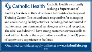 Supervisor of Facility Services