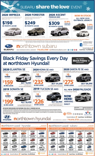 Black Friday Savings Every Day at Northtown Hyundai!