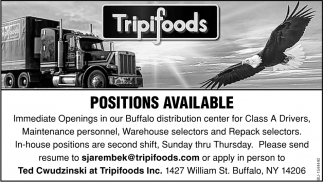 Positions Available