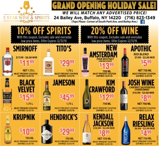 Grand Opening Holiday Sale!