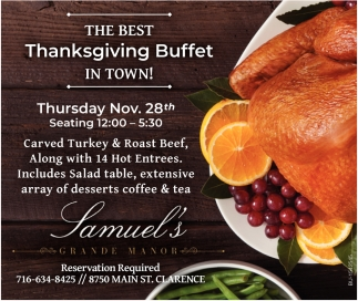 The Best Thanksgiving Buffet in Town!