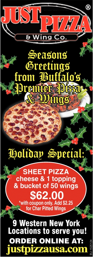 Seasons Greetings from Buffalo's Premier Pizza & Wings