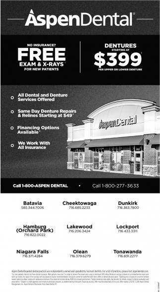 All Dental & Denture Services Offered