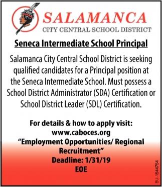 Seneca Intermediate School Principal