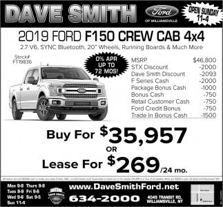 2019 Ford F150 Crew Cab 4x4
