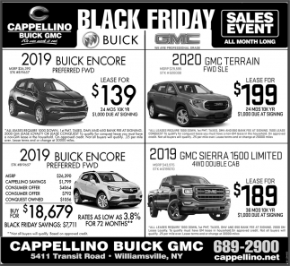 Warsaw Buick Gmc >> Black Friday Sales Event, Cappellino Buick GMC, Amherst, NY