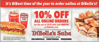 It's DiBest Time of the Year to Order Online at DiBella's!