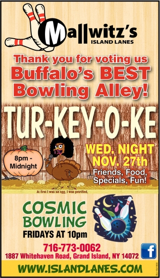 Thank You for Voting Us Buffalo's Best Bowling Alley!