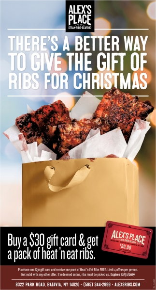 There's a Better Way to Give the Gift of Ribs for Christmas