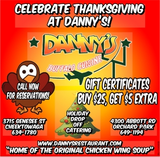 Celebrate Thanksgiving at Danny's!