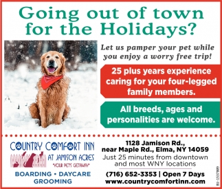 Going Out of Town for the Holidays?