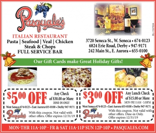 Our Gift Cards Make Great Holiday Gifts!