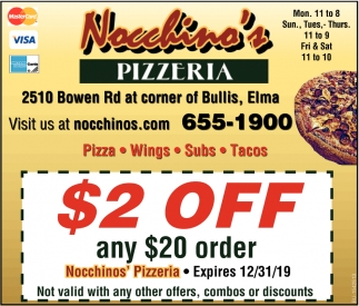 $2 OFF Any $20 Order