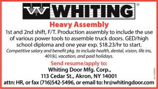 Heavy Assembly