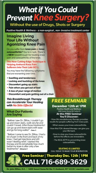 Imagine Living Your Life Without Agonizing Knee Pain