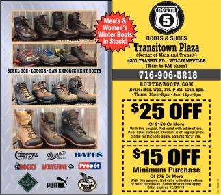 Men's & Women's Winter Boots in Stock!