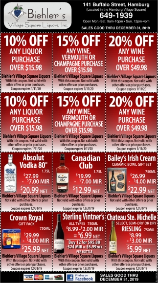 10% OFF Any Liquor Purchase
