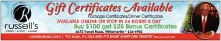 Gift Certificates Available