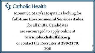 Full-Time Environmnetal Services Aides