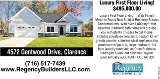 Luxury First Floor Living!