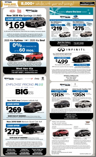 8,000+ Vehicles with Year-End Savings!