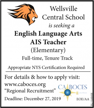 English Language Arts AIS Teacher