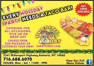 Every Holiday Party Needs a Taco Bar!