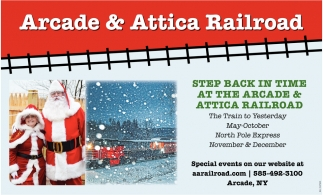 Step Back in Time at the Arcade & Attica Railroad