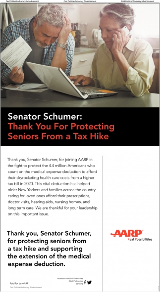 Thank You for Protecting Seniors from a Tax Hike
