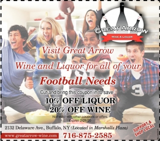 Visit Great Arrow Wine and Liquor for All of Your Football Needs