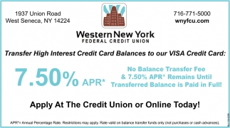 Apply at The Credit Union or Online Today!