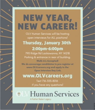 New Year, New Career!