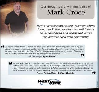 Our Thoughts are with the Family of Mark Croce
