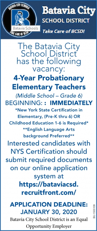 4-Year Probationary Elementary Teachers