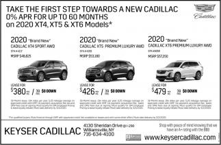 2020 Brand New Cadillact XT4 Sport AWD