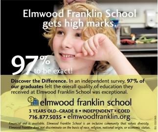 Elmwood Franklin School Gets High Marks