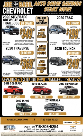 Auto Show Savings Stat Now!