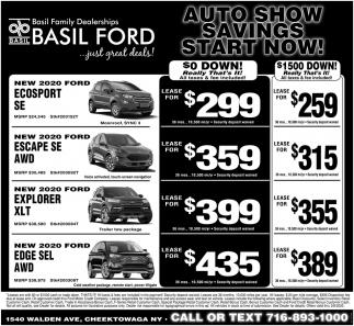 Auto Show Savings Start Now!