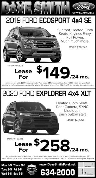 2019 Ford Ecosport 4x4 SE