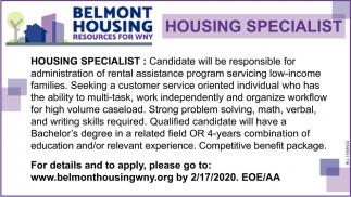 Housing Specialist