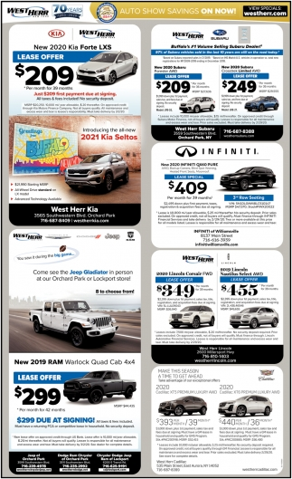 Auto Show Savings On Now!
