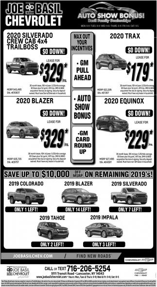 Auto Show Bonus!