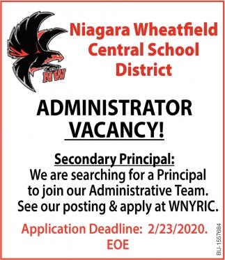 Administrator Vacancy!
