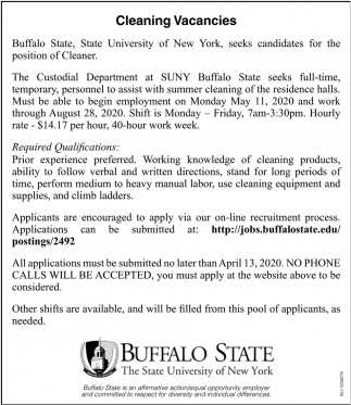 Cleaning Vacancies